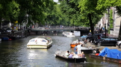 Amsterdam Canals 02 HD - stock footage