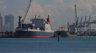 Port Of Miami and tankers Stock Footage