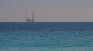 Oil Drilling off South Beach Stock Footage