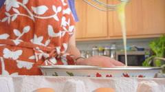 Scrambling Eggs Series Stock Footage