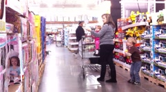 Shopping with the Kids Stock Footage