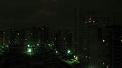 Residental houses an night, time lapse Stock Footage