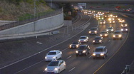 Stock Video Footage of Night Rush Hour Traffic Time Lapse