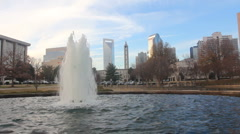 Charlotte Downtown Fountain  - stock footage