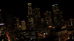 L A DOWNTOWN NIGHT 3 Stock Footage