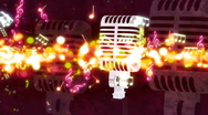 Stock Video Footage of Music Streak Microphone Looping Animated Background