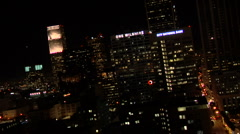 L A DOWNTOWN NIGHT 1 Stock Footage