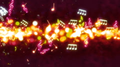 Music Streak Looping Animated Background - stock footage
