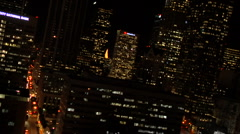 L A DOWNTOWN NIGHT 2 Stock Footage