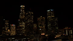 L A DOWNTOWN NIGHT 4 Stock Footage