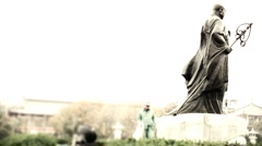 Statue of master xuanzang Stock Footage