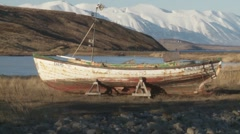 Old boat at Hjalteyri Stock Footage
