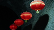 Stock Video Footage of chinese lanterns in the wind