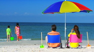 Family Vacation Relaxation Stock Footage