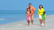 Happy Family Vacation Fun Stock Footage