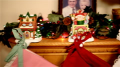 Dolly shot of stocking holders Stock Footage
