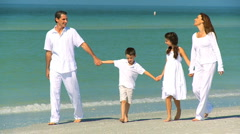 Happy Family Vacation Fun - stock footage