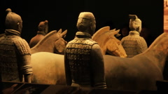The famous terracotta warriors of Xian, China - stock footage