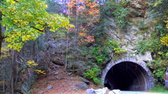 Mountain tunnel and cars Stock Footage