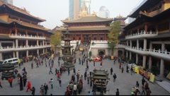 Jing'an temple in Shanghai Stock Footage