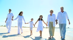 Family Generations Walking Together - stock footage