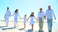 Family Generations Walking Together Stock Footage