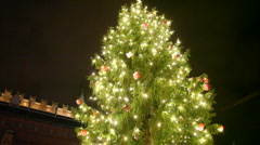 Christmastree with heart Stock Footage