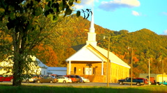 Mountain churches Sunday 02 Stock Footage