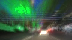 night city tour in the car at ankara turkey - stock footage