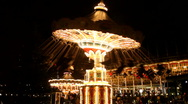 Carousel with lights Stock Footage