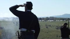 American Civil War battle Stock Footage
