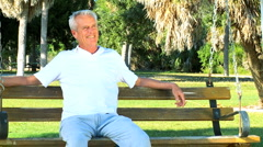 Portrait of Contented Senior Male - stock footage