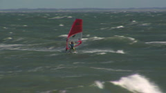Windsurfer doing Loop in Denmark - stock footage