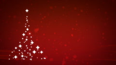 Christmas Tree Background - Red Stock Footage