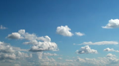 Clouds time lapse in a sunny day - stock footage