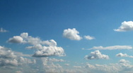Clouds time lapse in a sunny day Stock Footage