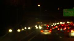 Traffic 89 blurred Stock Footage