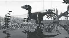 Dinosaur Old Film. Stock Footage