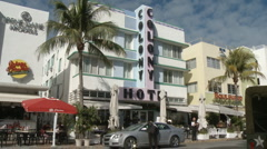 Colony Hotel on South Beach Stock Footage