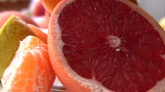 Fresh citrus juices Stock Footage