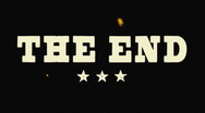 "Stock Video Footage of ""The End"" Vintage 35mm Film Logo"