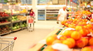 Stock Video Footage of Buying oranges