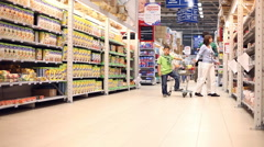 Children in the store Stock Footage