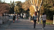 Footing in the park Stock Footage