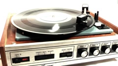Turntable device for audio playback Stock Footage
