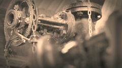 29-ton stationary steam engine 09 Stock Footage