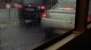 Bus Window on a Rainy Day . FULL HD  Stock Footage