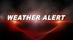 WEATHER ALERT Transition 1 Stock Footage