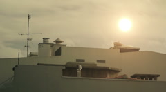 Very Hot Rooftop . FULL HD  Stock Footage