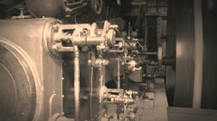 29-ton stationary steam engine 17 Stock Footage